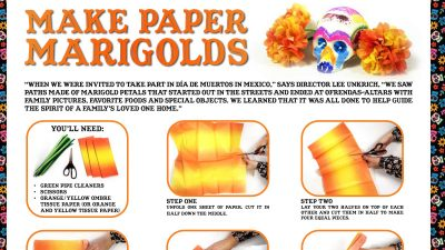 paper marigolds craft