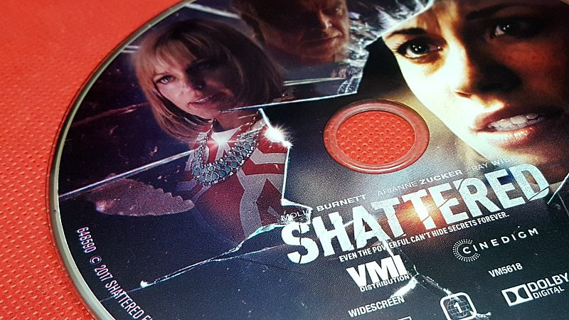 shattered dvd movie disc