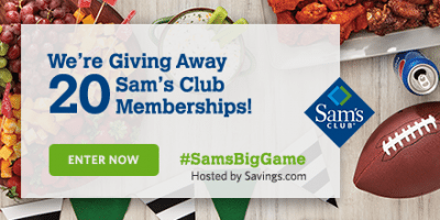 Sams Club Gift Card Giveaway – 20 Winners – Ends 1/16/18