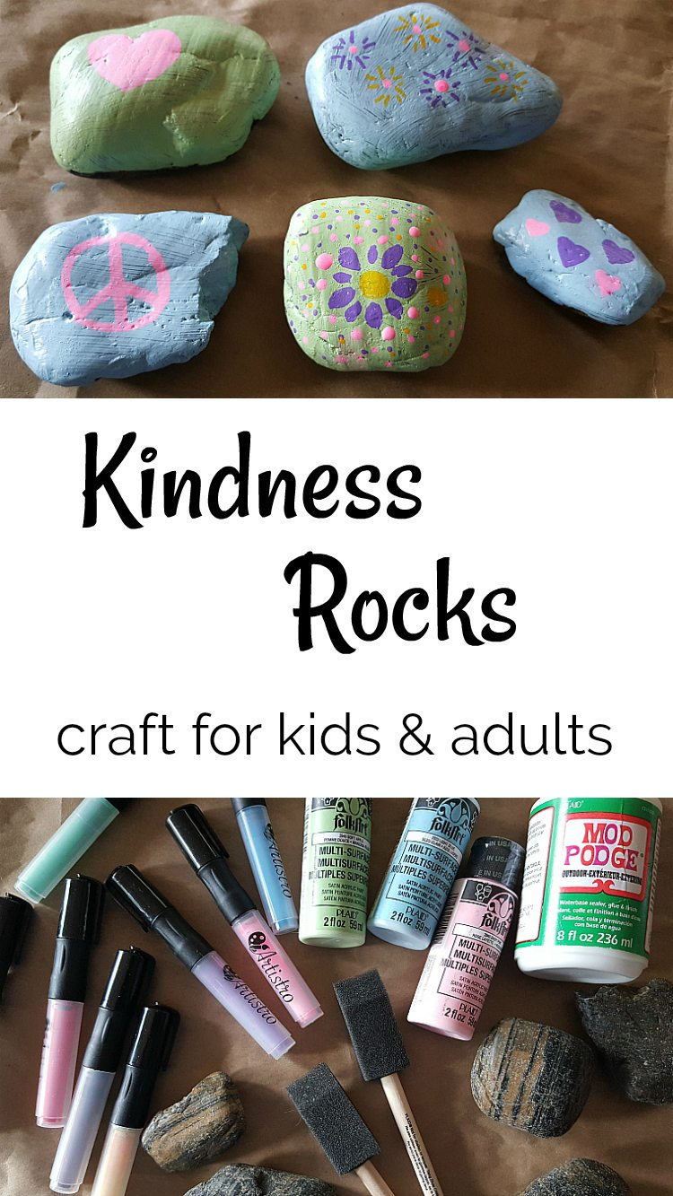 Kindness Rocks craft tutorial - DIY painted rocks for kids and adults