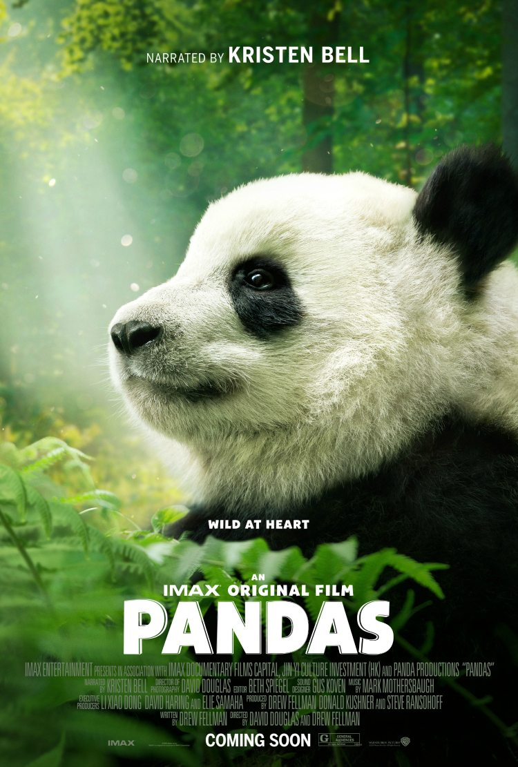 Pandas IMAX documentary film narrated by Kristen Bell
