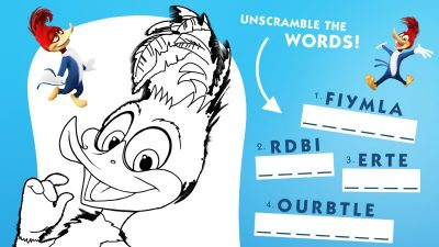 Free Woody Woodpecker Printable Activity Page