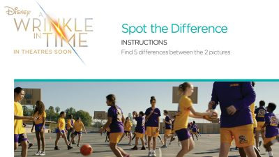 Wrinkle In Time Spot The Differences Activity Page - Free From Disney