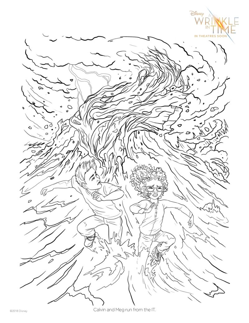 Wrinkle in Time Printable - Free Disney Coloring Page