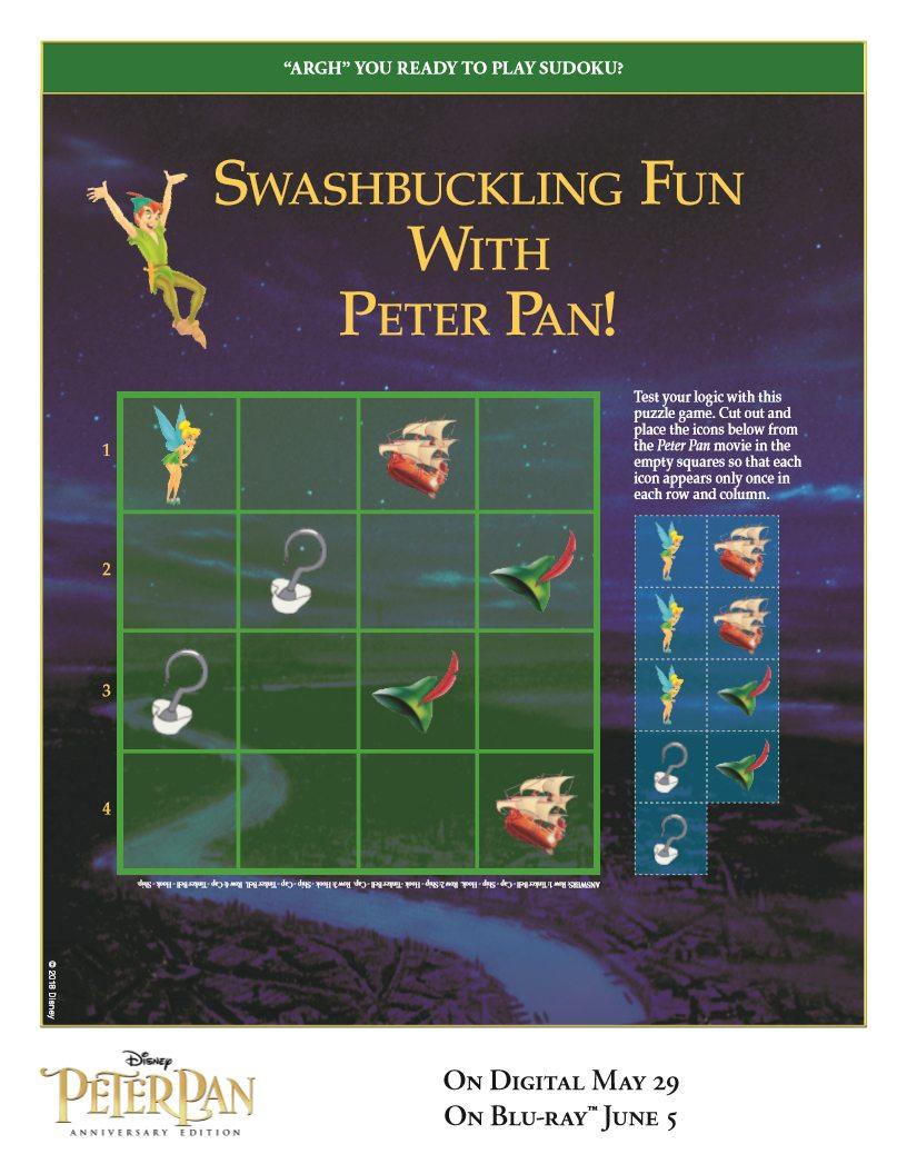 Free Peter Pan Disney Sudoku