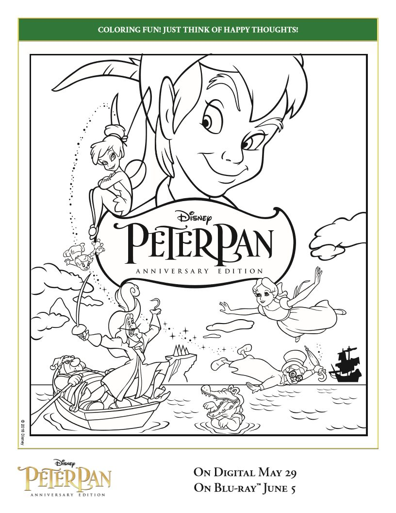 - Peter Pan Coloring Page - Free Printable From Disney
