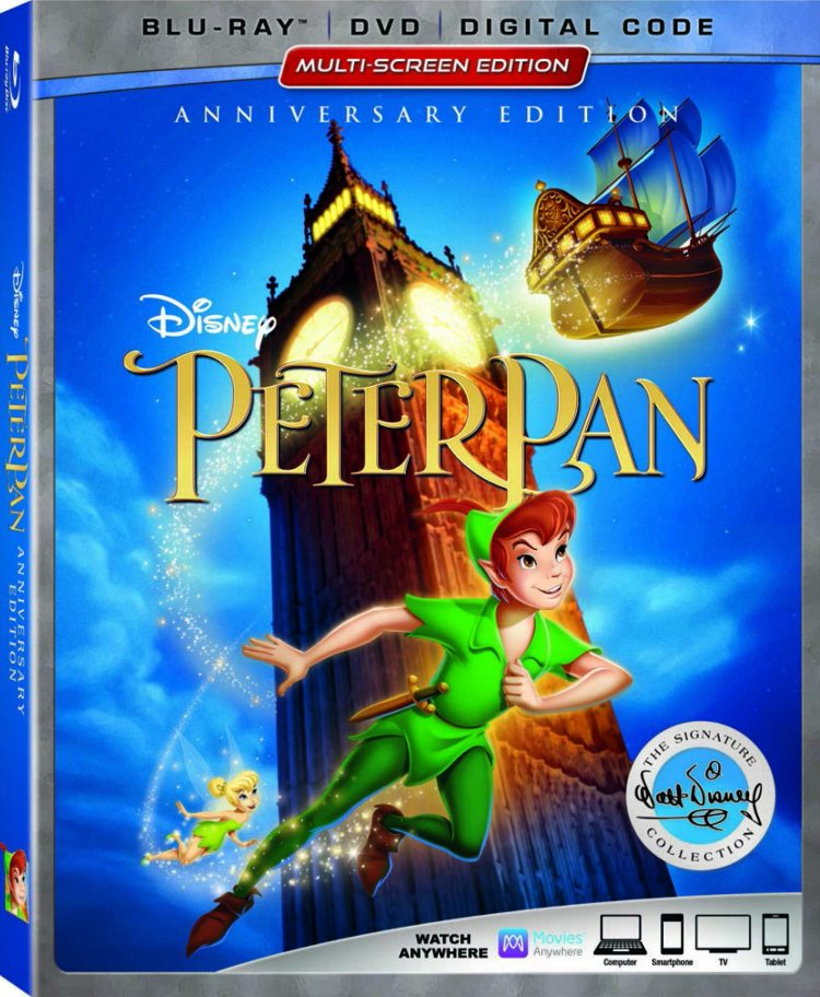 Peter Pan 65th Anniversary Blu-ray DVD