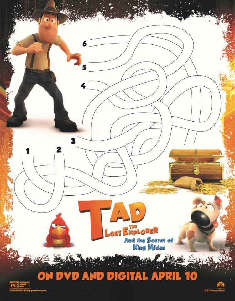 Tad Printable Maze