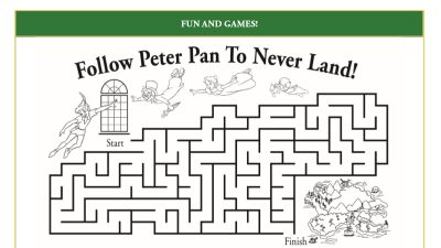 Peter Pan Activity Page – Free Disney Printable