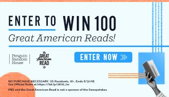 Book Sweepstakes – Win 100 Books – Ends 8/31/18