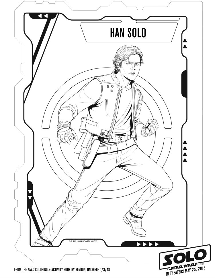 Free Star Wars Printable Han Solo Coloring Page