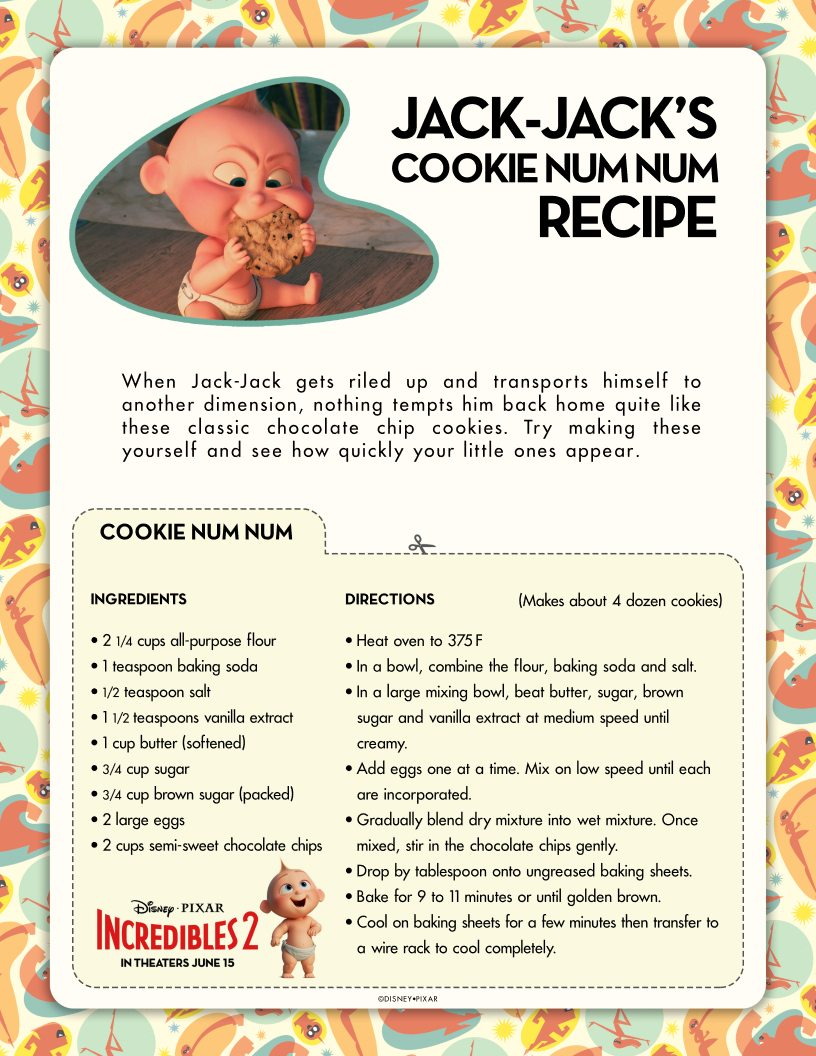 Incredibles Cookies Baby Jack Jacks Cookie Num Num Recipe Disney Pixar Incredibles 2