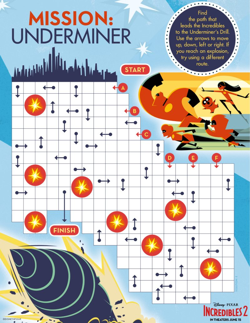 Incredibles Maze - Free Disney Printable