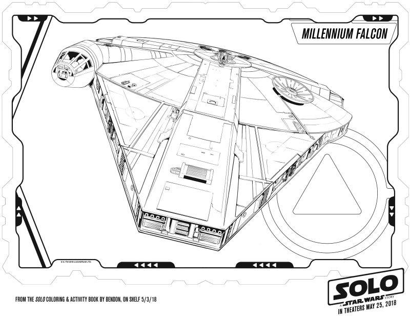 Millennium Falcon Coloring Page - Free Star Wars printable