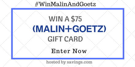 skincare giveaway - malin and goetz gift cards