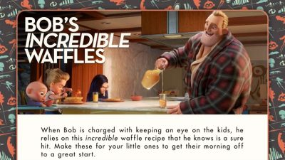 Incredible Waffles Recipe from Disney Pixar Incredibles 2