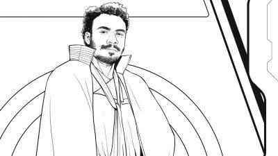 Lando coloring page - Free Disney Star Wars download