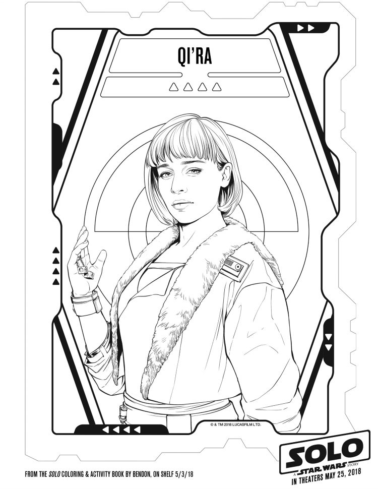 qi'ra coloring page - free Star Wars printable