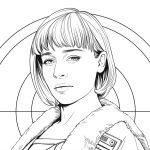 Qi'ra Coloring Page – Free Star Wars Printable