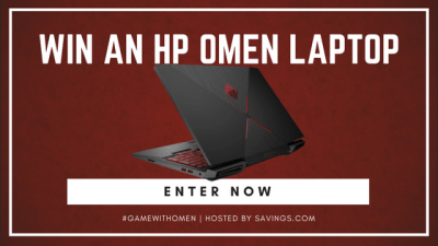 HP Gaming Laptop Giveaway – Ends 6/22/18