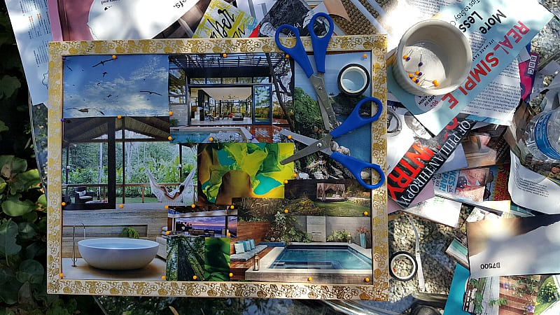 vision board work table