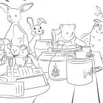 Hundred Acre Wood Coloring Page