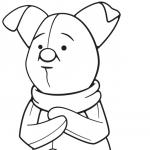 Piglet Coloring Page – Free Disney Printable