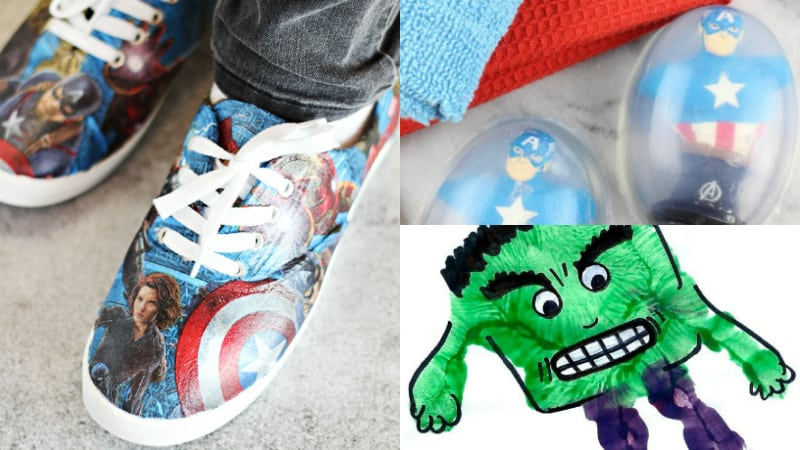 avengers crafts shoes soap hand