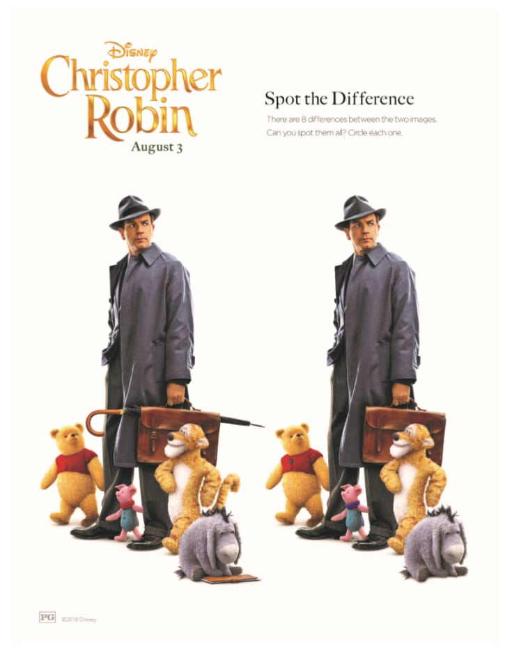 Christopher Robin Activity Page