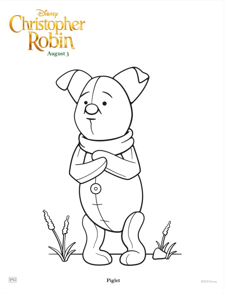 Piglet Coloring Page Free Disney Printable Mama Likes This