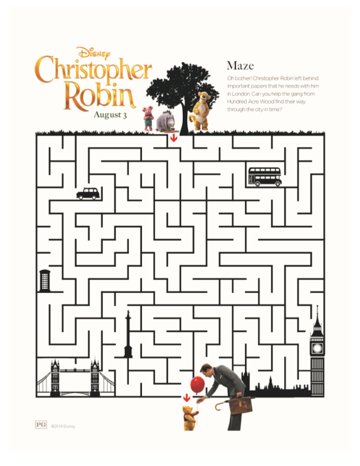 winnie the pooh maze