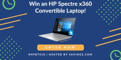 HP Spectre Laptop Giveaway – Ends 8/24/18