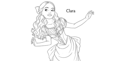 Clara Coloring Page from Disney's Nutcracker