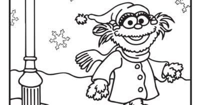 elmo explores coloring page