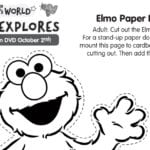 Elmo Paper Doll Printable Craft