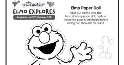 elmo paper doll