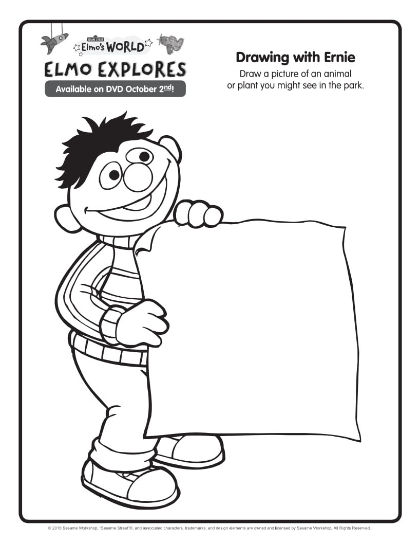 ernie coloring page