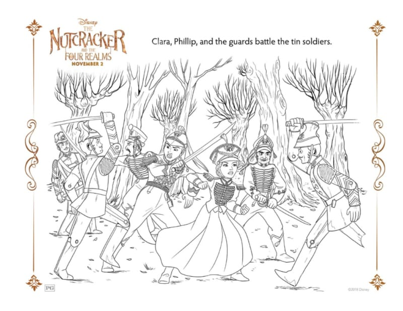 Nutcracker Battle Scene Coloring Page