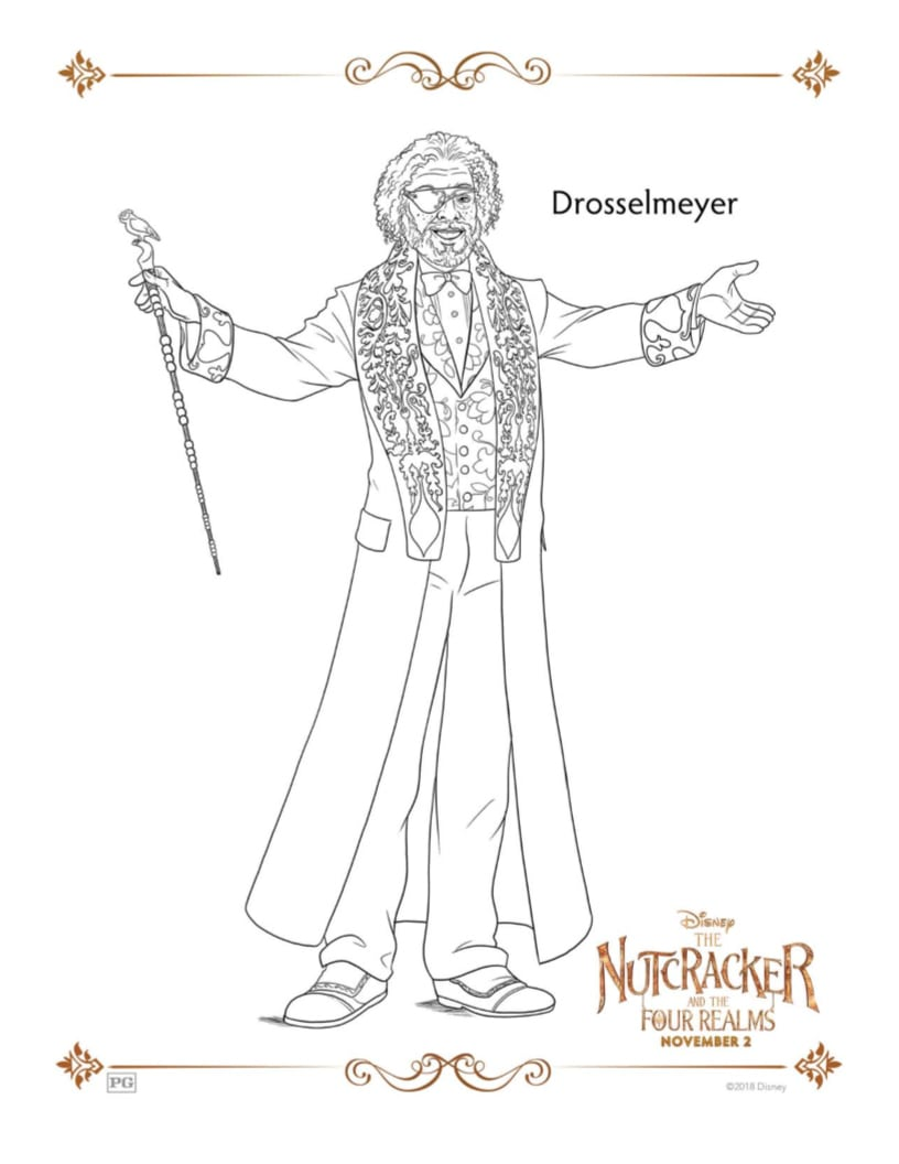 Drosselmeyer Printable Coloring Page