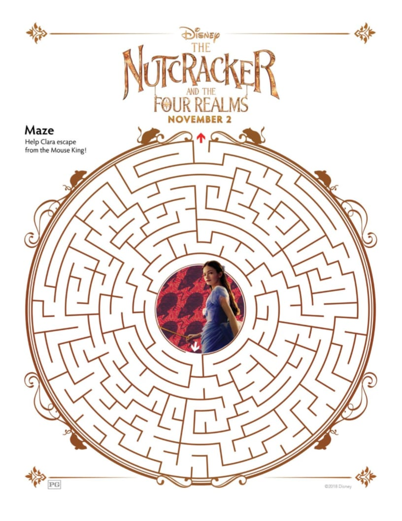picture relating to Nutcracker Worksheets Printable named Printable Nutcracker Maze versus Disney Mama Likes This