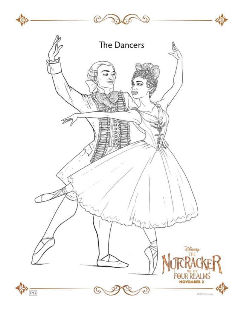 Disney Nutcracker and The Four Realms Misty Copeland Coloring Page - Free printable ballerina coloring page - great for a ballet themed birthday party or for Christmas