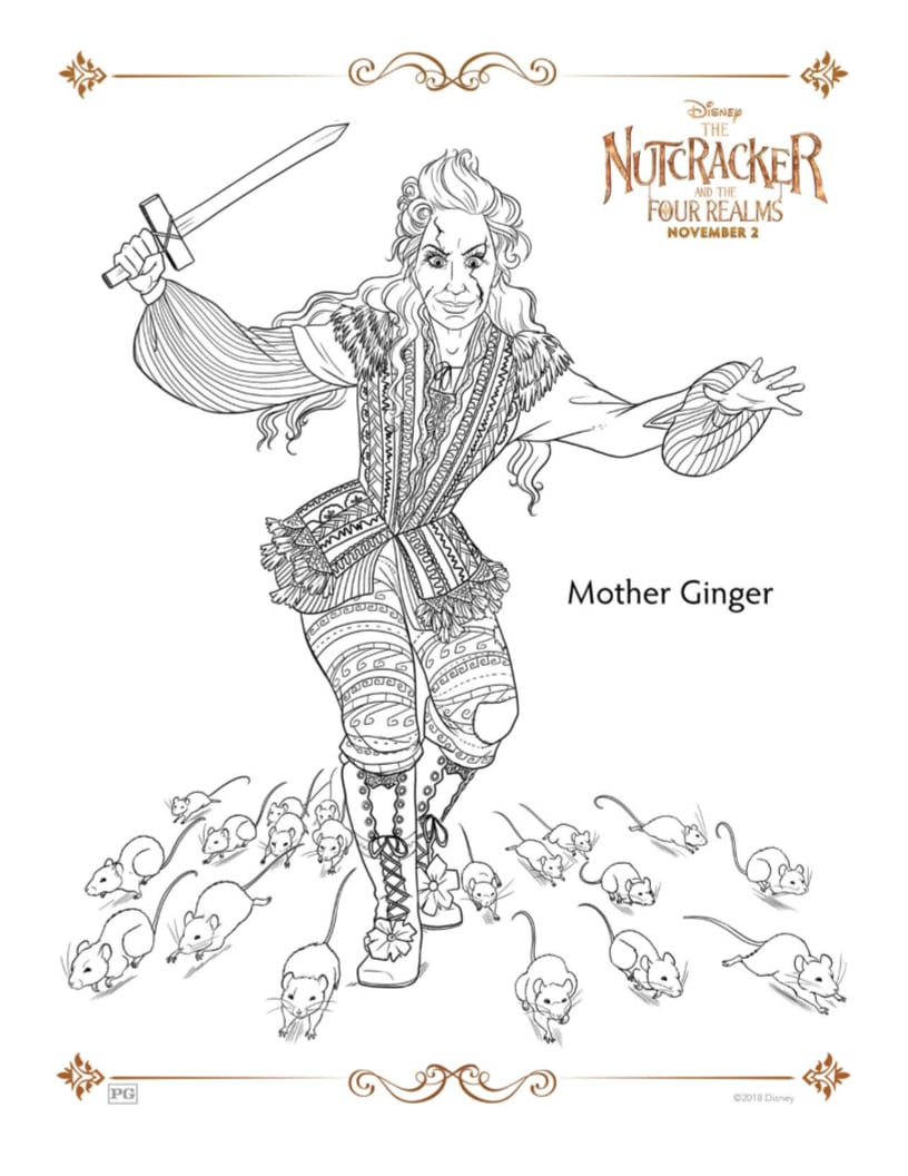 nutcracker mother ginger coloring page