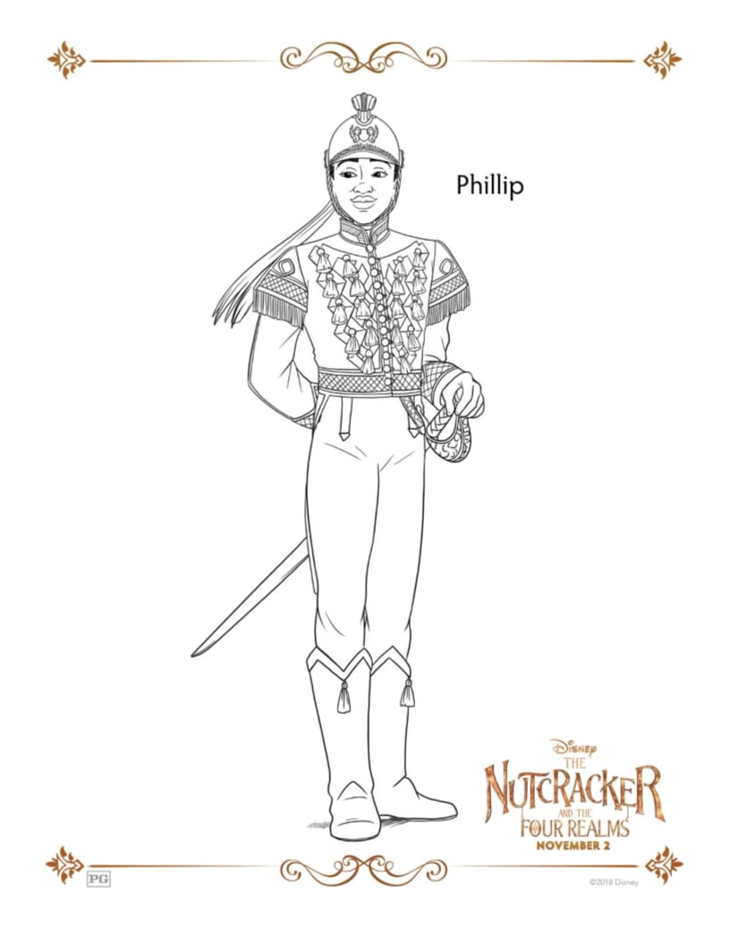Nutcracker Phillip Disney Coloring Page