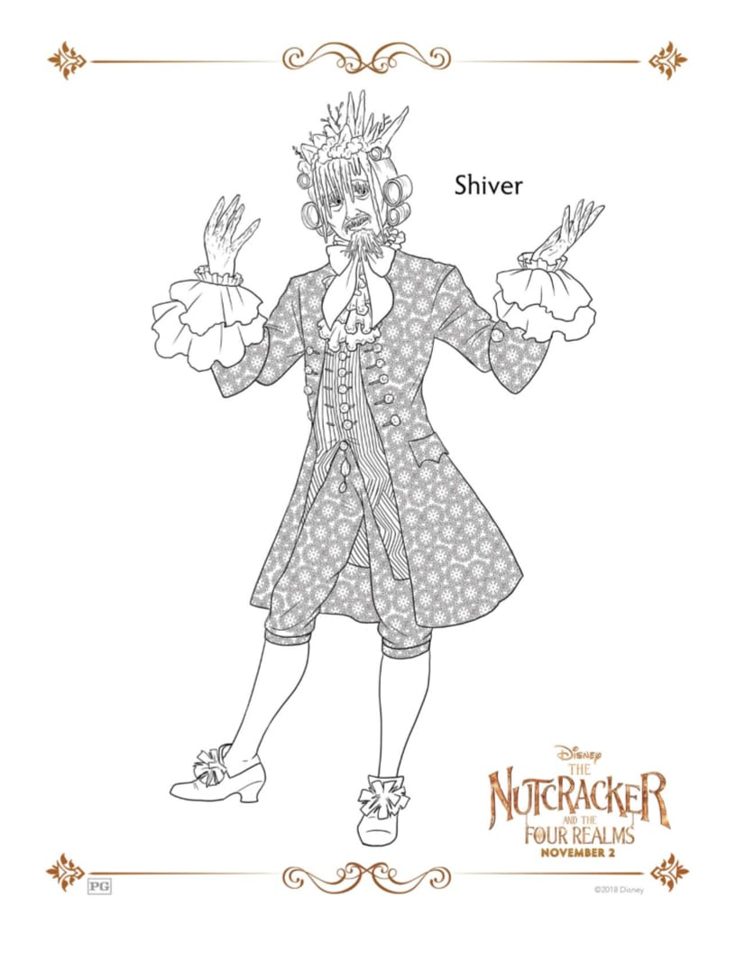 Free Disney Nutcracker and The Four Realms Shiver Coloring Page