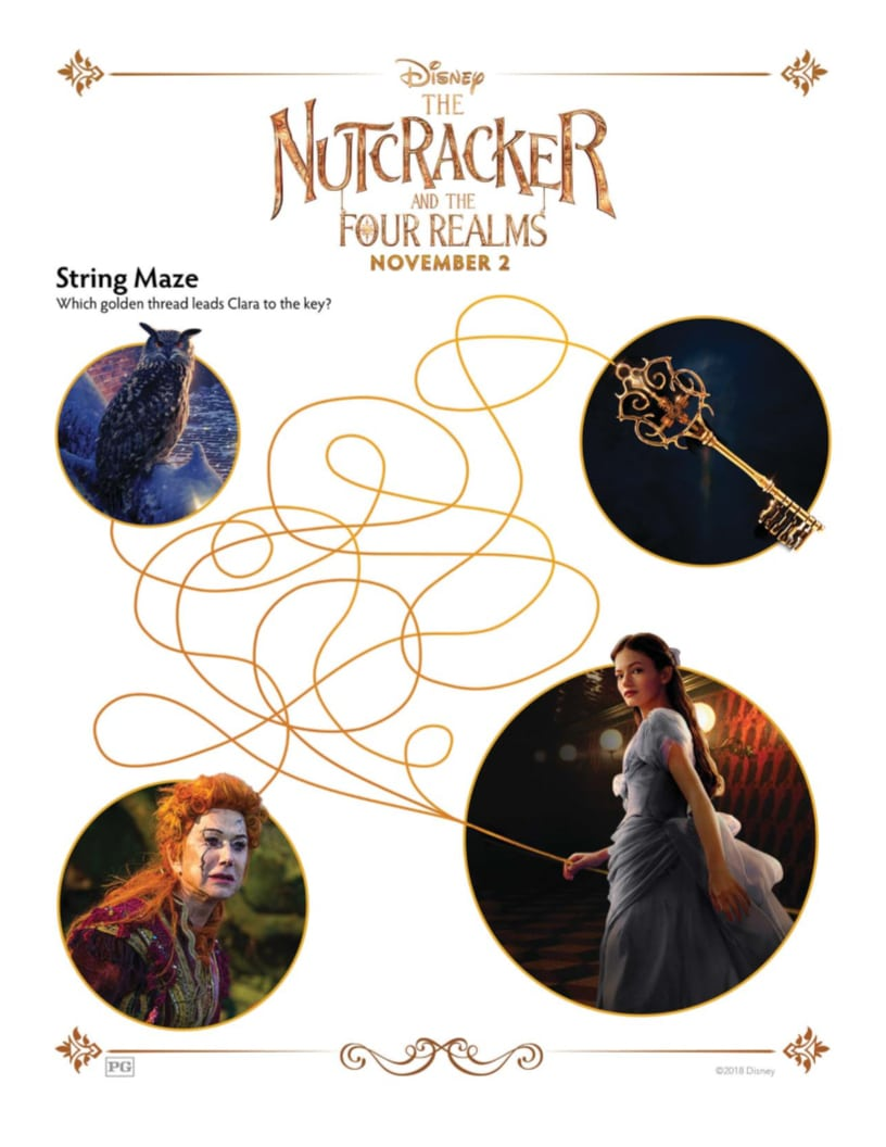 Disney Nutcracker String Maze