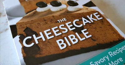 feature the cheesecake bible cookbook