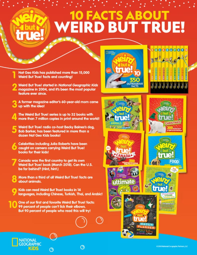 natgeo weird but true facts printable
