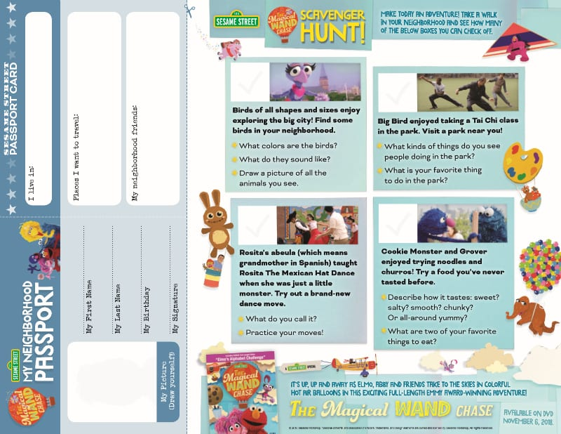 neighborhood sesame street scavenger hunt