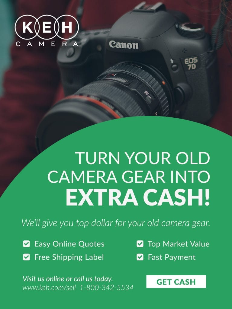keh Get Cash for Camera Gear