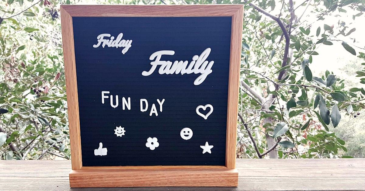 1 letter board set
